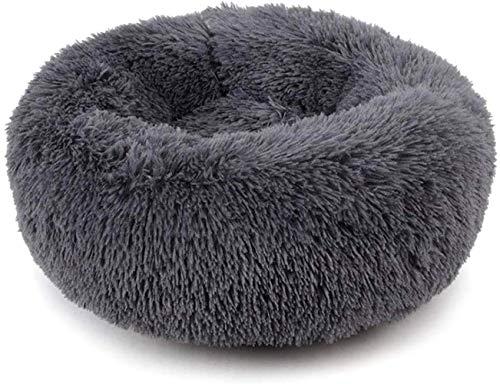 HARESLE Cálidas y mullidas camas extra grandes para perros, lavables, redondas, calmantes de piel donut Cuddler para perros grandes (M,70 cm)