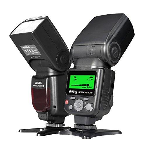 VOKING VK750 Manual LCD Display Universal Flash Speedlite Compatible with Nikon Pentax Panasonic Olympus Fujifilm DSLR Mirrorless Cameras