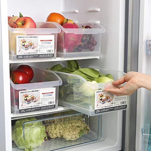 Futaikang Cocina, Recipiente para Alimentos, Nevera contenedor para congelador, Transparente, Ahorra Espacio, de plástico para Fijar a los estantes del frigorífico y congelador