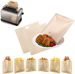 Toaster Bag Reusable Non Stick Heat Resistant 5 Pcs for Sandwiches Pastries Pizza Slices Chicken Nuggets