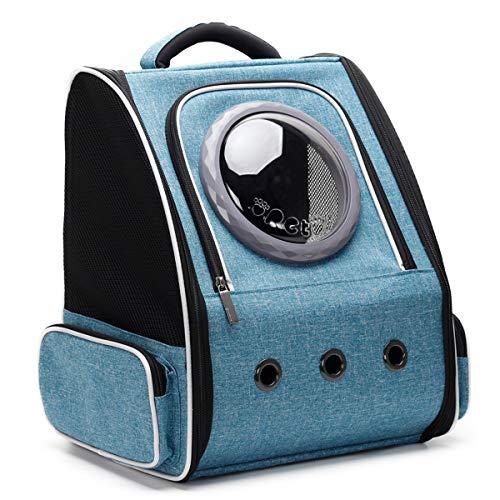 Ausziehbarer Katzen-Rucksack für kleine Hunde, Weltraumkapsel, transparente Luftpolster-Tragetasche für kleine Hunde, Haustiere,...