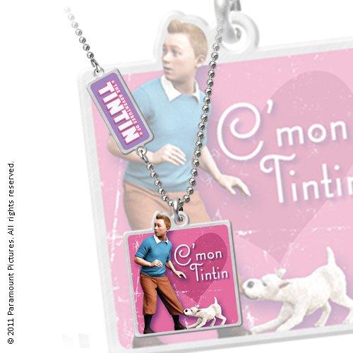 LES AVENTURES DE TINTIN - Pendentif avec chaînette C'mon Tintin