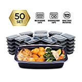 Cubeware 50-Pack Snap-Seal, Microwavable, Dishwasher and Freezer Safe, Reusable Food Storage Bento...