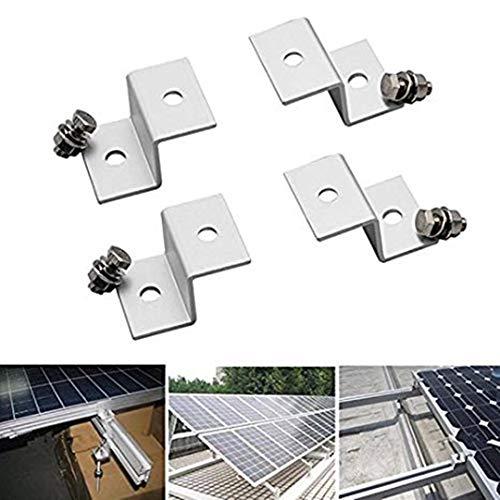4pcs Z Solar Panel Aluminium Halterungen mit Edelstahlschrauben