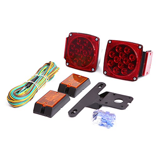 CZC AUTO 12V LED Submersible Trailer Tail Light Kit for Under 80 Inch Boat...