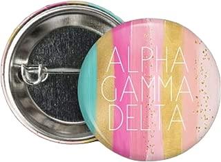 Alpha Gamma Delta Bright Stripes Button