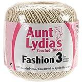 Coats Crochet Aunt Lydia's Fashion Crochet, Cotton Size 3, Natural (182-226)