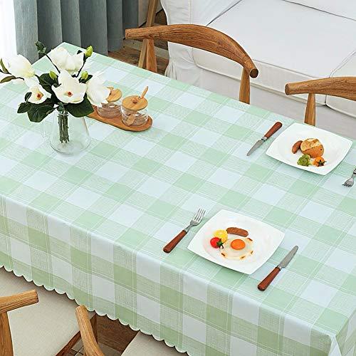 ZHUOBU Modern geruit tafelkleed, waterdicht oliebestendig ijzer-proof tafelkleed rechthoekig eettafel bijzettafel picknick-tafelbescherming (kleur: H, grootte: 135x220cm(53x87inch))
