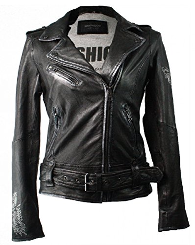 Oakwood | Lederjacke Heroine - schwarz, Farbe:schwarz;Größe:36