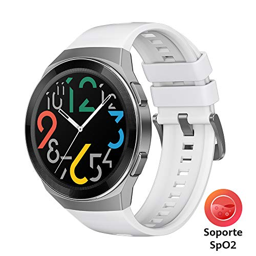 HUAWEI Watch GT 2e Bluetooth SmartWatch, Sport GPS 14 Days Working Activity Fitness Tracker, Heart Rate Tracker, Blood Oxygen Monitor, Waterproof for Android and iOS, 46mm, ICY White