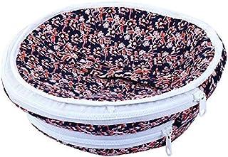 Innovegic Cotton Cloth Roti Basket with Chain | 100% Cotton Cover Traditional Roti, Chapati Rumal, Cover Size : 24 * 24 * ...
