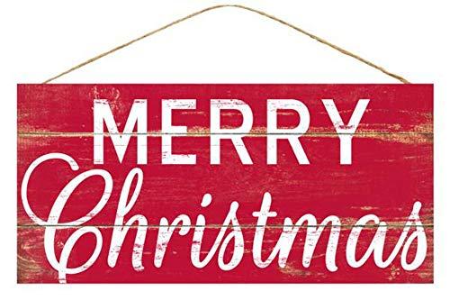 Craig Bachman Señal de Madera de 12 Pulgadas: Feliz Navidad roja, decoración...