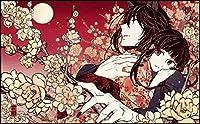 ダイヤモンドペインティングキット 大人用 日本の着物の女性 ラインストーンクリスタルの刺繍キットアート工芸品&ソーイングクロスステッチ 30x40cm