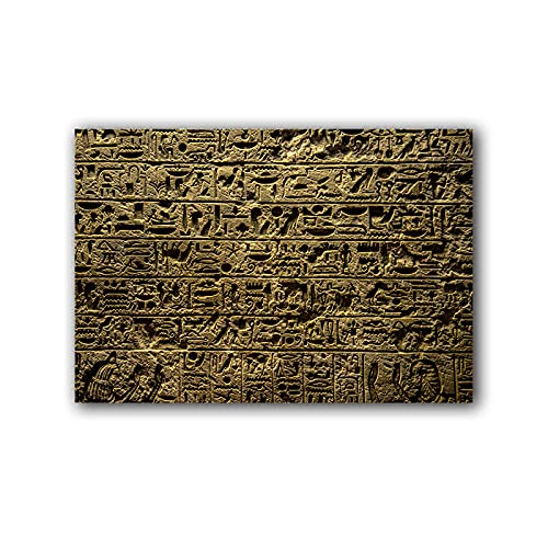 Lienzo decorativo para pared, diseño de Jeroglíficos egipcios en templo, 60 x 90 cm, sin marco