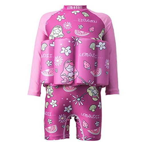 CLISPEED Mädchen Junge EIN Stück Schwimmbadeanzug Badebekleidung Mädchen Junge Einteilig Schwimmbadeanzug Badebekleidung Badeanzug Rosa 130Cm