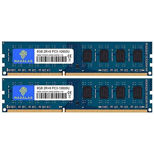 8GB×2枚 PC3-10600U DDR3-1333MHz デスクトップPC用メモリ CL9 PC3 10600 DIMM 240Pin Non-ECC 16GB キット