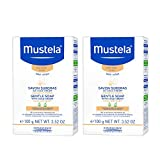 Mustela Gentle Soap, Baby Bar Soap with Cold Cream, Ceramides and Natural Avocado Perseose, for Dry Skin, 2 Pack