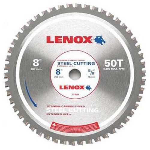 LENOX Tools 8-Inch Circular Saw Blade, Steel-Cutting, 50-Tooth (21884ST800050CT)