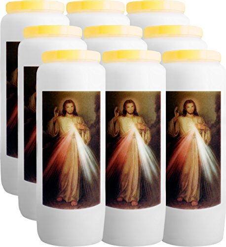 9x vela Novena a la miséricorde Divine–Jesús Cristo–br