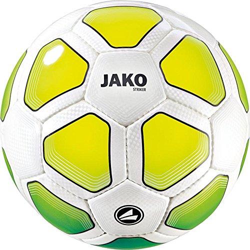 JAKO - Trainingsbälle für Fußball in weiß/Neongrün/Neongelb, Größe 4