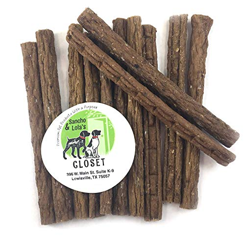 bully sticks elks Savory Soft Elk Jerky Treats for Dogs with Allergies Limited Ingredients 12-Count, Gluten-Free by Sancho & Lola's