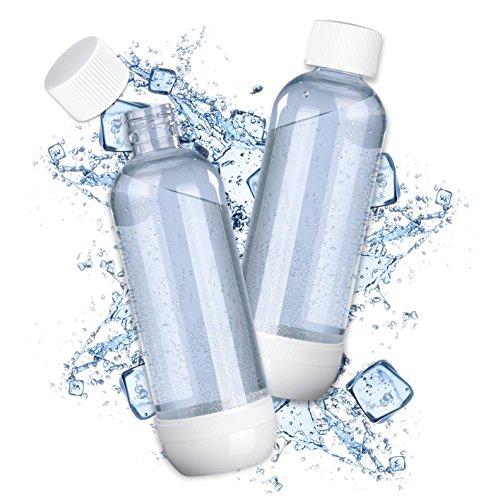 Soda Trend 07782 PET-Ersatzflasche 2er-Set 850ml | Für Soda Trend Wassersprudler Deluxe u. Classic | Zusatzflaschen