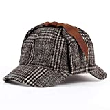 ブランドシャーロック・ホームズ探偵ハット男女兼用アクセサリーベレーメンズ・レディース・二鍔ベレー鹿撃ち帽ハット (Color : Brown)
