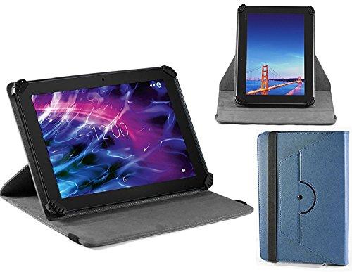 Navitech blau Ledertasche/Abdeckung mit 360 Drehständer für die BEISTA HD 10.1 Tablets Quad Core 3G Dual