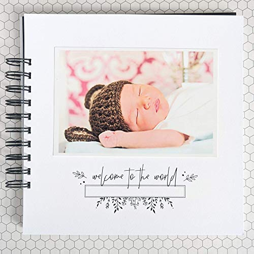 Baby Memory Book with Keepsake Bag Baby Photo Journal and Album First Year Memory Book Minimalist Gender Neutral LGBTQ Friendly