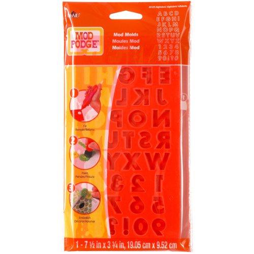 Mod Podge - Stampo con Lettere dell'alfabeto, Trasparente, Misura: L
