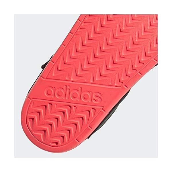 adidas Women's Adilette Sandal Water Shoe, Core Black/Core Black/Signal Pink, 6