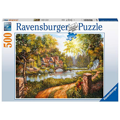 Ravensburger Puzzle 16582 Cottage Am Río 16582-Cottage in Río - 500 Piezas Multicolor