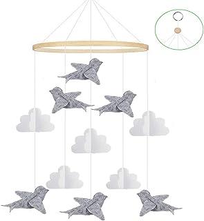 Feelairy Carillons éoliens pour Garçons et Filles, Mobile de Lit de Bébé en Feutre Hochets Jouets pour Bébé Décoration, Cl...