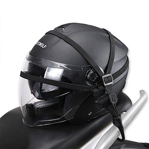 CVERY Motorcycle Helmet Luggage Rope,Motorcycle Bungee Bandage Retractable Elastic Strap for Motorcycle Helmet Luggage