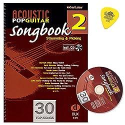 Guitare acoustique Pop Guitar - Songbook 2 de Michael Langer - Strumming and Picking - Partitions de guitare avec CD et Dulop