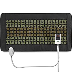 """UTK Far Infrared Heating Pad for Full Back, Weight Heating pad for Pain Relief, Dense 132 Jade and 54 Tourmaline Stones Matrix 160 Watt Fast Heat Up,Size :21""""x38"""" [FSA or HSA Eligible]"""