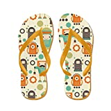 CafePress - Cute Robot Lover - Flip Flops, Funny Thong Sandals, Beach Sandals Orange
