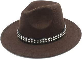 SHENTIANWEI Men Women Wool Fedora Hat Dance Party Hat Casual Wild Church Hat Pop Panama Jazz Hat Size 56-58CM
