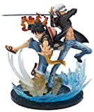 Ban Dai - Figura de acción Monkey.D.Luffy and Trafalgar de 20 x 17 x 22 cm (2320870)