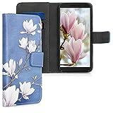 kwmobile Alcatel 1S Custodia Portafoglio - Cover Magnetica con Stand in Simil Pelle - Case...