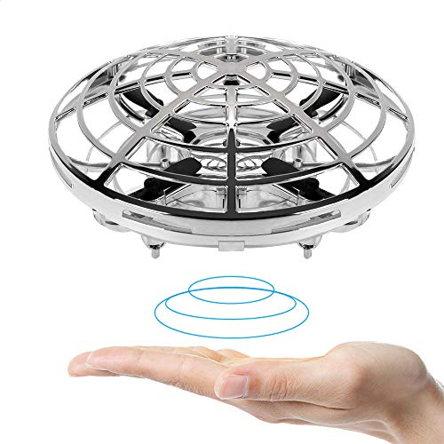 Hand Drones for Kids and Adults BLUELF Mini Drone Helicopter Easy Flying Ball Drone Toys for Boys or Girls Aged 3 4 5 6 7 8-16 (Silver)
