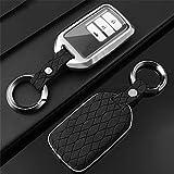 MISDHZinklegierung Leder Auto Smart Key Case Cover, Für Honda Civic CR-V HR-V Accord Jade Crider Odyssey 2015 2018