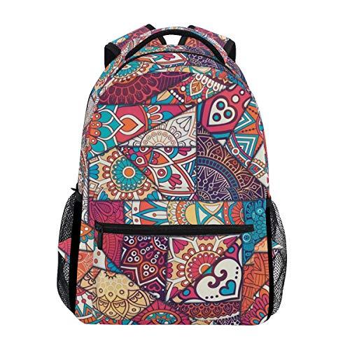 poiuytrew Mandala Bohemian Pattern Backpack Students Shoulder Bags Travel Bag College School Backpacks