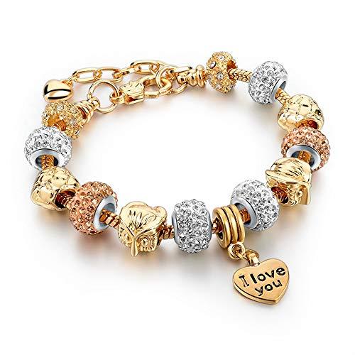 WHFDRHSZ armband armbanden armband goud met kristalparels mode vrouwen armbanden DIY