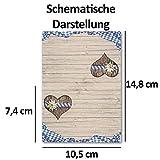 100 Tisch-Karten Bavaria DIN A7 – Falt-Karten 7,4 x 10,5 cm bedruckbar – Namens-Kärtchen für Feste, Biergarten, Gastro, Hotel – von Ihrem Glüxx-Agent - 2