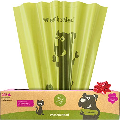 Earth Rated Extra Large Dog Poop Bag - 225 Doggie Waste Bags For Large Dogs | Extra Thick Lavender-Scented Doggy Bags Measure 11x13 inches with Leak-Proof Security