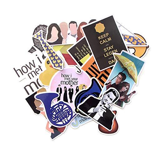 WYDML Etiqueta engomada de la historia del romance de la mamá y el papá caja de viaje del monopatín del refrigerador del cuaderno de dibujos animados PVC impermeable etiqueta 20 piezas