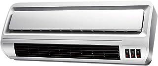 Calefactor Eléctrica Calefactor PTC Velocidad de cerámica Escritorio de Montaje en Pared de Uso Doble Gran Angular Suministro de Aire Oficina en casa Mudo a Prueba de Agua Blanco 2000W