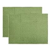 Ulable - Tappetino per asciugare i piatti, in microfibra, ad asciugatura rapida, per cucina, accessori da tavolo, lavabile in lavatrice, 51 x 38 cm, confezione da 2 (verde)