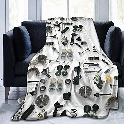 Kteubro Manta para coche, ultra suave, de microfibra, para cama, sofá, sala de estar, playa, picnic, otoño, primavera, invierno, manta D94
